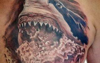 Tattoo of a shark