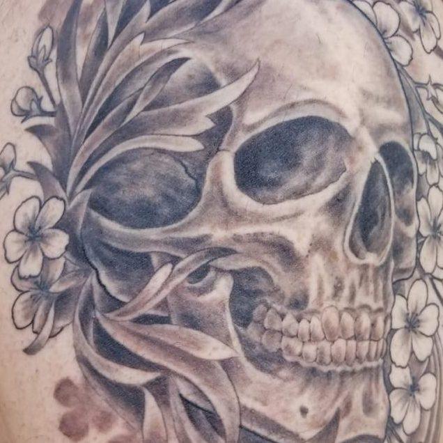 Tattoo of a skull