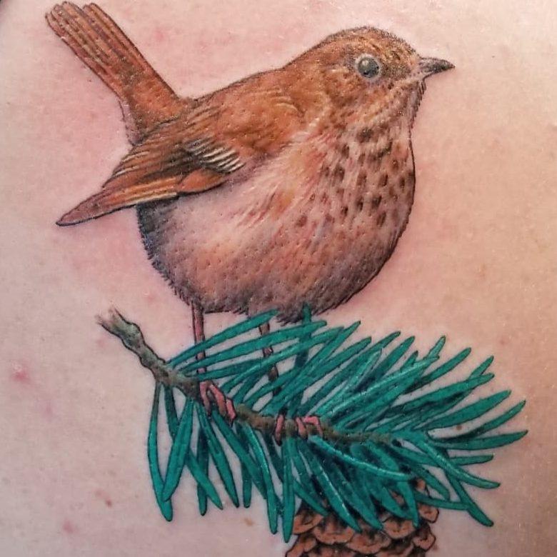 Tattoo of a bird