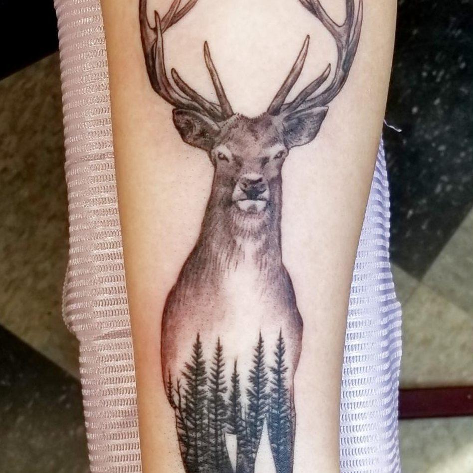 Tattoo of a deer