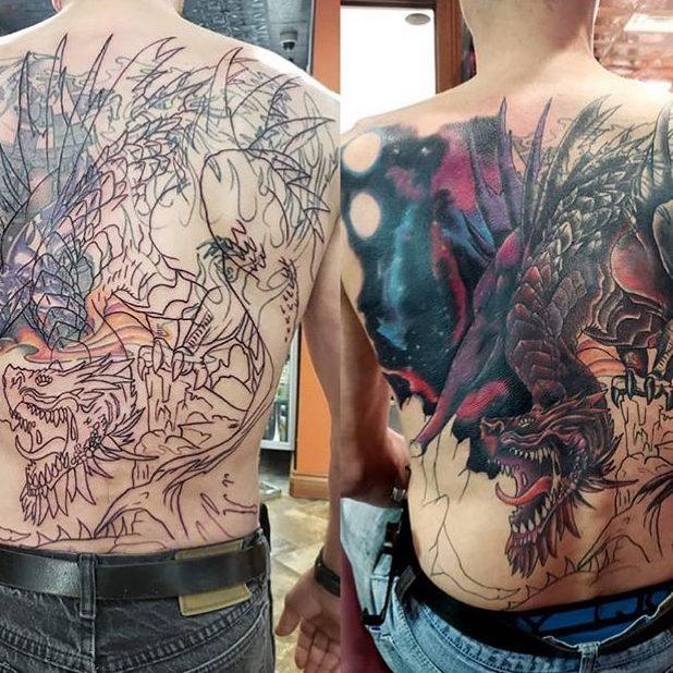 Tattoo of a dragon