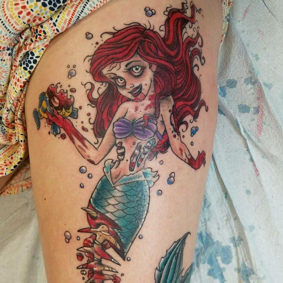 Tattoo of a mermaid