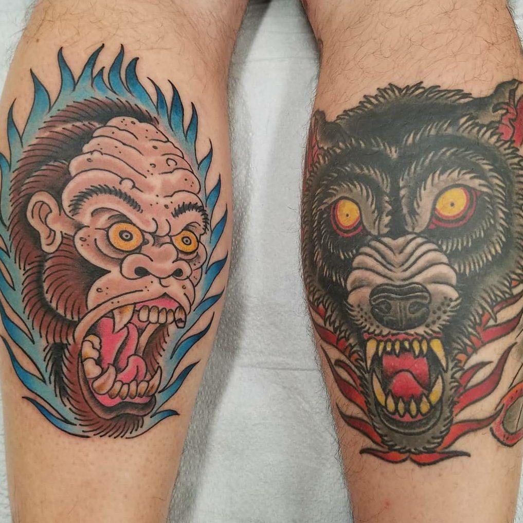 Tattoo of an ape