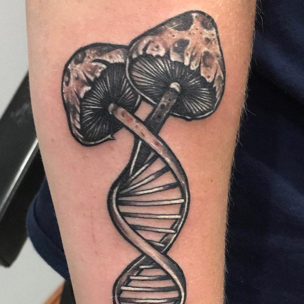 Tattoo of a mushroom
