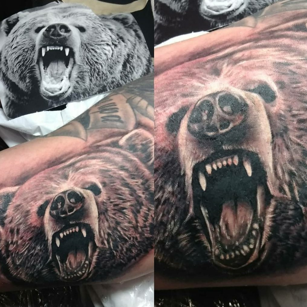 Tattoo of a bear