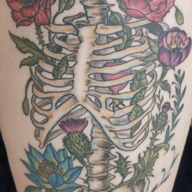 Tattoo of a skeleton