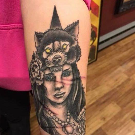Tattoo of a native american
