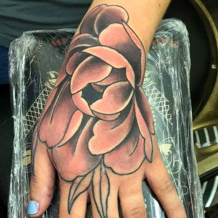 Tattoo of a flower