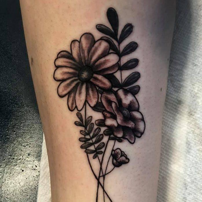Tattoo of flowers